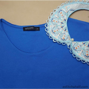 Snow Song Peter Pan Collar - a-stitch-a-half