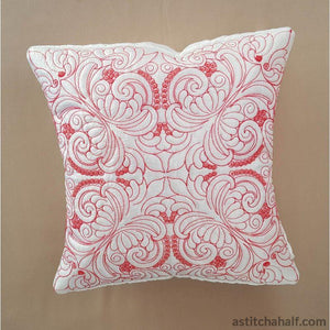 Snow White Pillow Quilt Rose Combo - a-stitch-a-half
