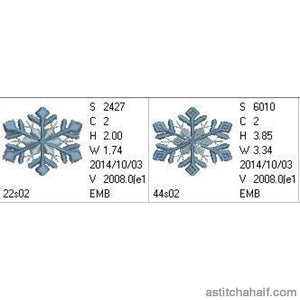 Snowflakes Frost - a-stitch-a-half