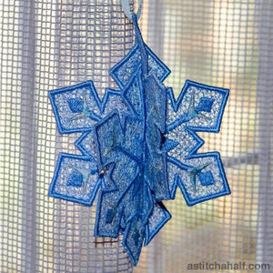 Snowflakes Graupel Embroidery Fill