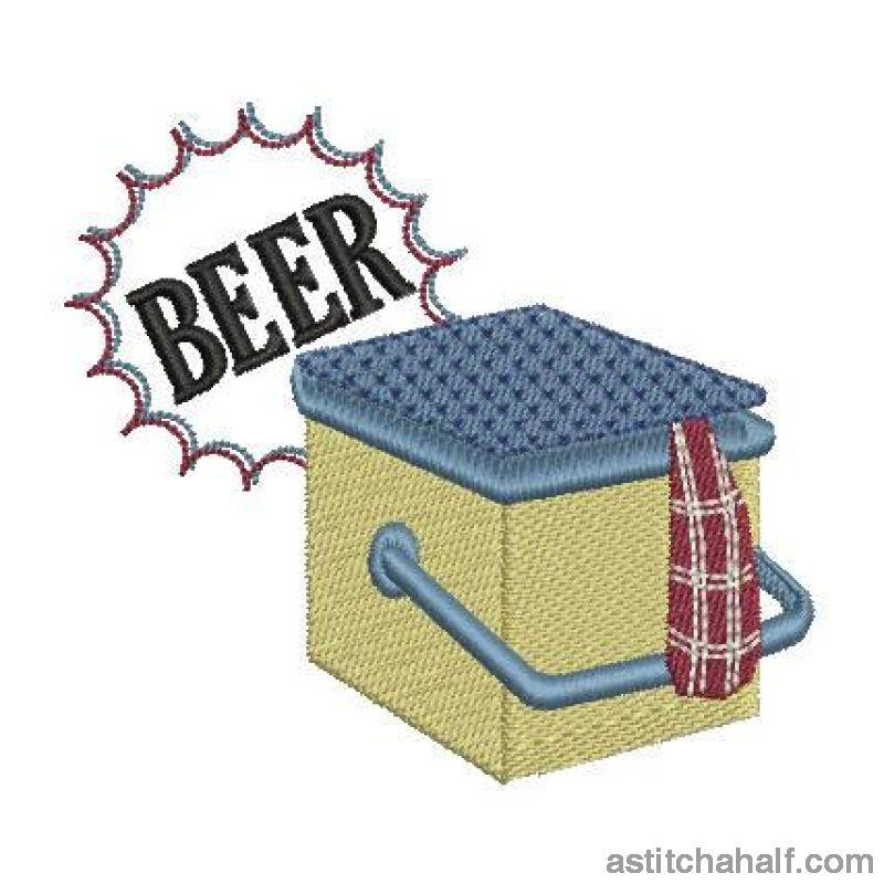 Soda Or Beer Cooler Box Embroidery Fill