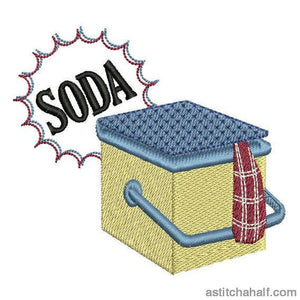 Soda or Beer Cooler Box - a-stitch-a-half