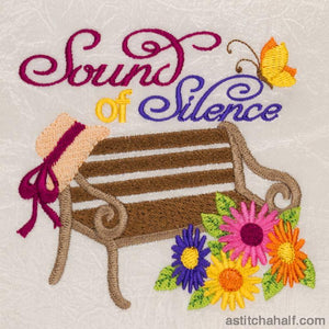 Sound Of Silence Garden Seat Embroidery Fill