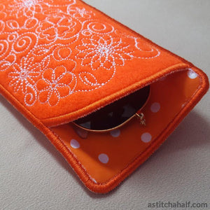 Spring Has Sprung Eyeglass Case - a-stitch-a-half