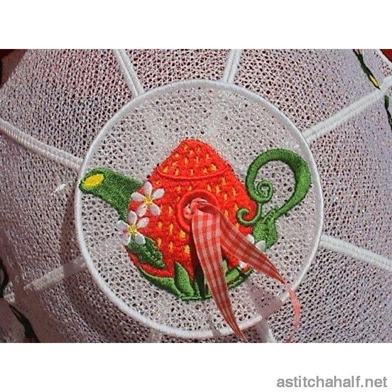 Strawberry Teapot Food Tent - a-stitch-a-half