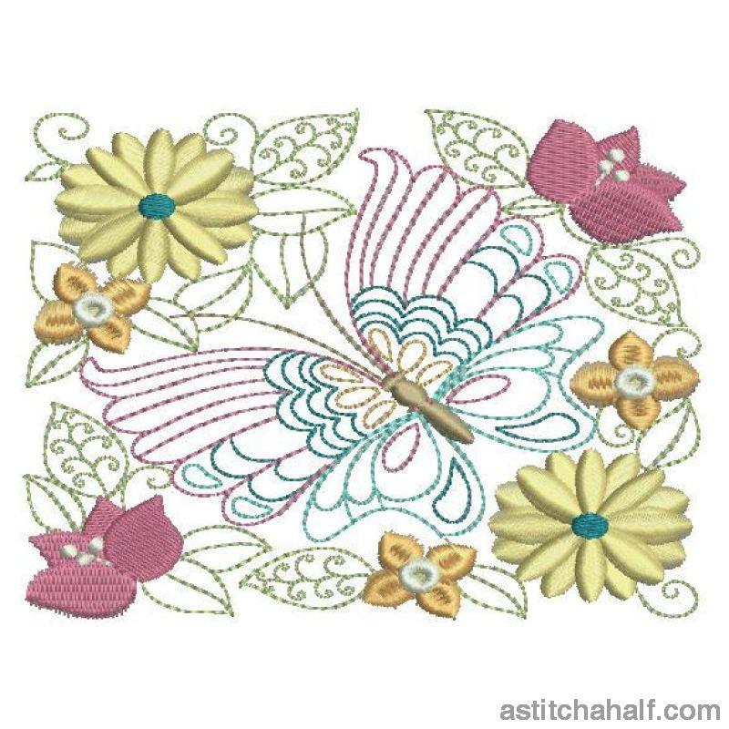 Summer Wings Embroidery Fill