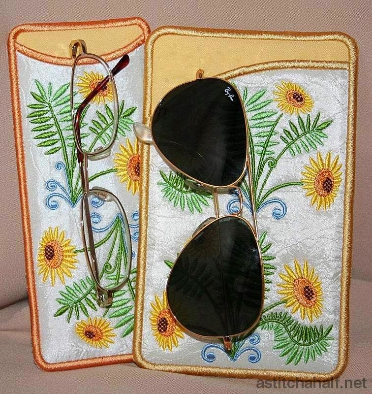 Sunflower Eyeglass Case - a-stitch-a-half