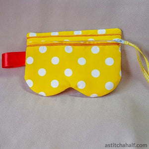 Sunnies Eyeglass Case with ITH Zipper - a-stitch-a-half