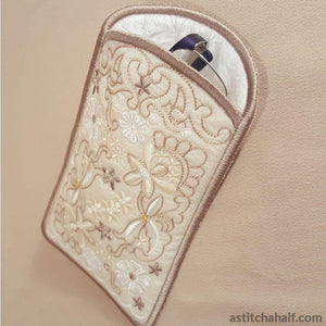 Sweet Serenade Eyeglasses Case - a-stitch-a-half