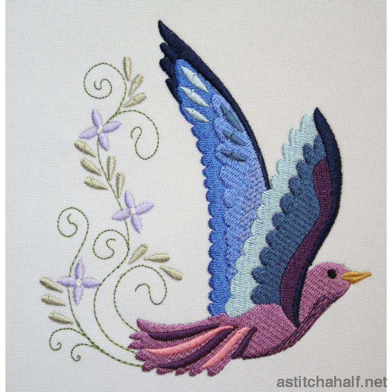 Sweet Swallow Combo Embroidery Fill