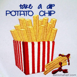 Take a dip Potato Chip - a-stitch-a-half