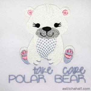 Take Care Polar Bear Embroidery Fill