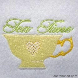Tea Time Cup Embroidery Fill