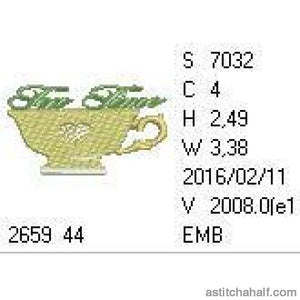 Tea Time Cup - a-stitch-a-half
