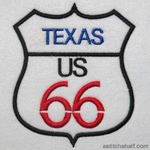 Texas Route 66 - a-stitch-a-half