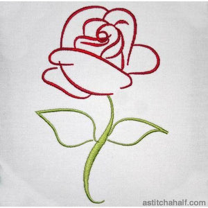The Rose - a-stitch-a-half
