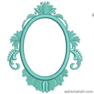 Tiffany Blue Frame Corners Borders and More Combo - a-stitch-a-half