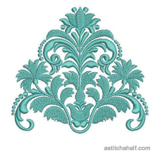 Tiffany Blue Frame Corners Borders And More Combo Embroidery Fill