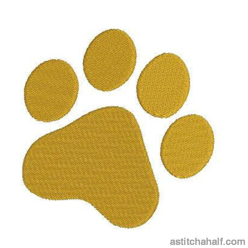 Tiger Paw Embroidery Fill