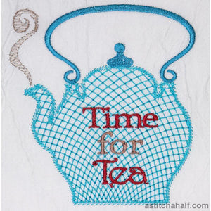 Time For Tea Embroidery Fill