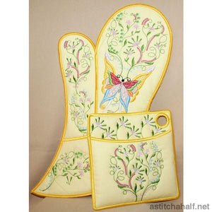 Tina s Oven Glove and Pot Holders - a-stitch-a-half