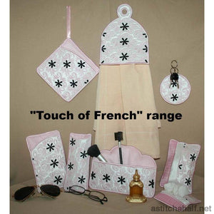 Touch of French Eyeglass Cases - a-stitch-a-half