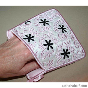 Touch of French Pot Holders - a-stitch-a-half