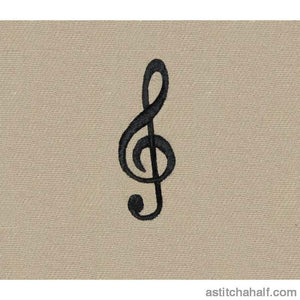 Treble Clef - a-stitch-a-half