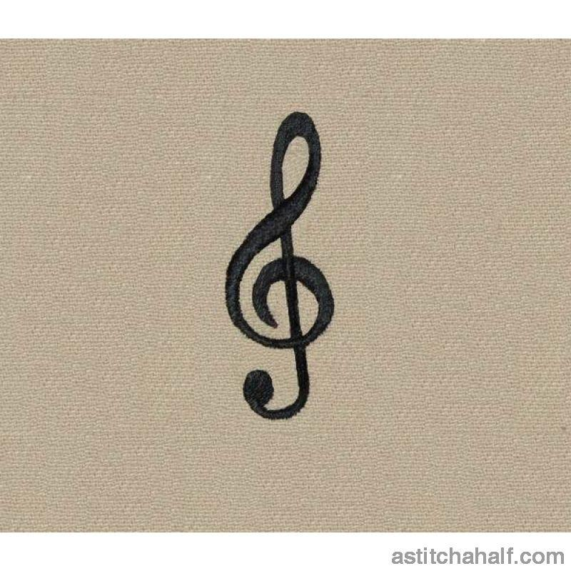 Treble Clef Embroidery Fill