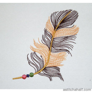 Tri Beaded Feather Embroidery Fill