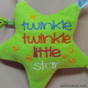 Twinkle Twinkle Little Star Taggie Toy ITH Bag - a-stitch-a-half