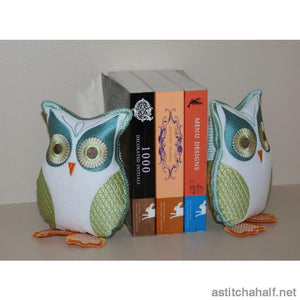 Twit Twoo Owl Bookend Applique