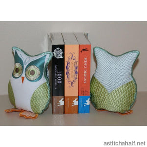 Twit Twoo Owl Bookend - a-stitch-a-half