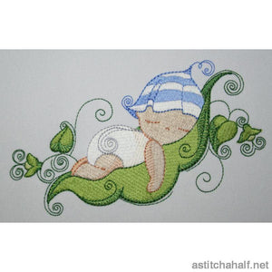 Two Peas In A Pod Babies Combo Embroidery Fill
