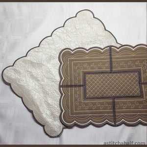 Vanilla Kisses Placemat Variety Applique