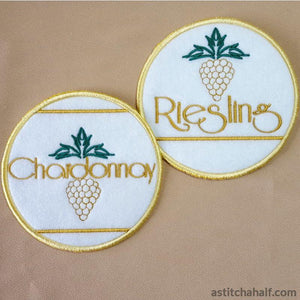 Vino Lettering and Coasters - a-stitch-a-half