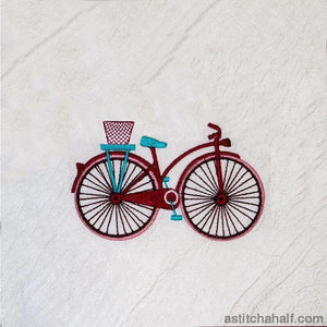 Vintage bicycle Life is Good - a-stitch-a-half