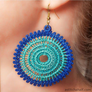 Vintage Freestanding Lace Earrings - a-stitch-a-half