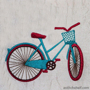 Vintage Happy Cycling - a-stitch-a-half