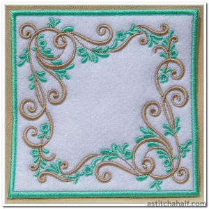 Vintage Mint Mug Rug And Design In The Hoop