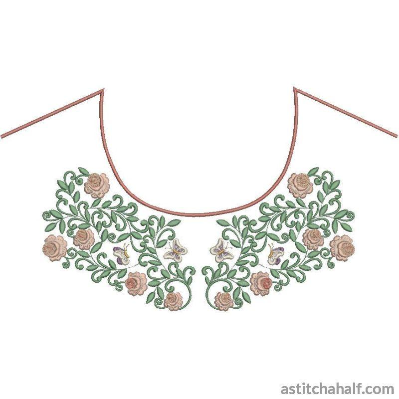 Vintage Neckline Variety Collection Embroidery Fill