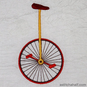 Vintage Unicycle Embroidery Fill