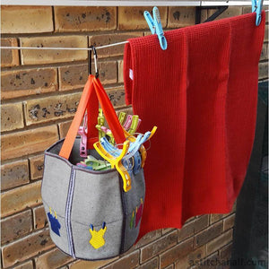 Washing Line Friendly Pegs Basket Applique