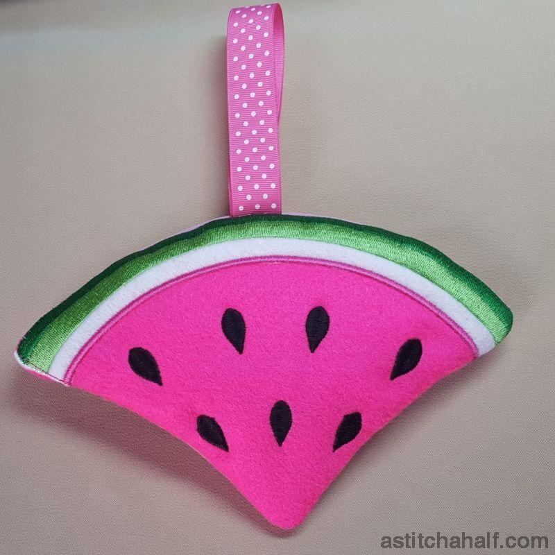 Watermelon In The Hoop Zipper Bag All In