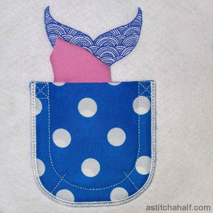 Whale In My Pocket Applique