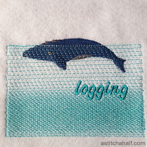 Whale Logging Embroidery Fill