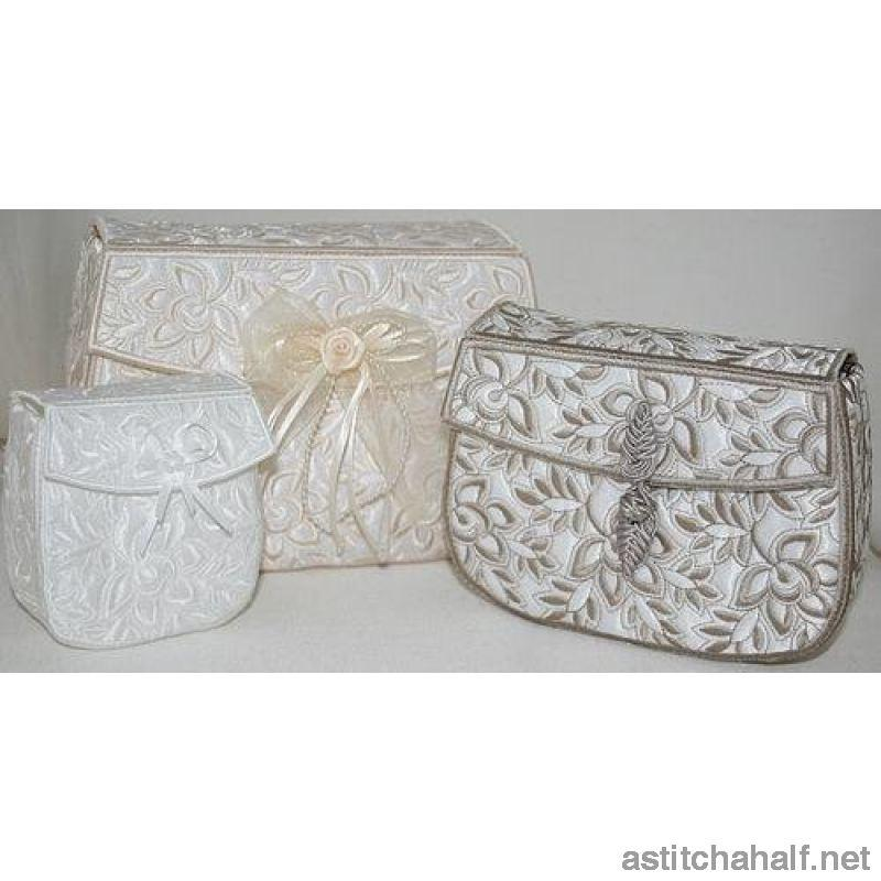 Whispers In White Clutch Purses Applique