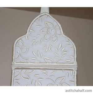 Whispers in White Toilet Roll Holder - a-stitch-a-half