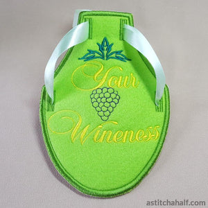 Wine Bottle Apron Your Wineness All In The Hoop