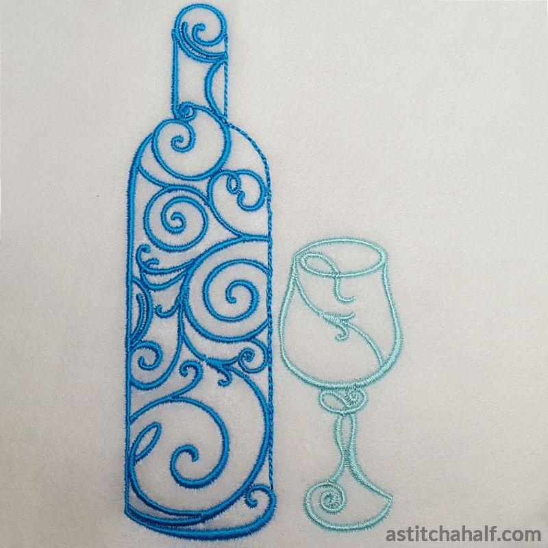 Wine Filigree Embroidery Fill